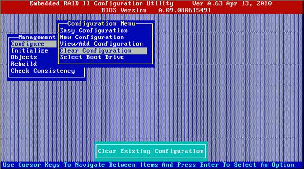 motherboard raid configuration utility